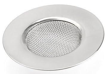 LQZ Edelstahl Abflu/ßsieb Waschbecken Filter Sp/ülbeckensieb Sieb f/ür Abfluss Kanalfilter