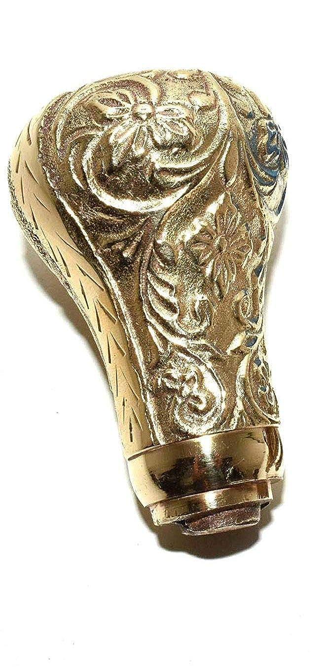 Akram nautical - Handmade Walking Stick Canes Metal Handles Knob Shape in Golden Finish - Decorative Classic Vintage Style