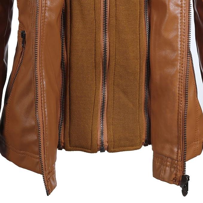 VESNIBA New Women Slim Hooded Jacket Overcoat Coat Lapel ...