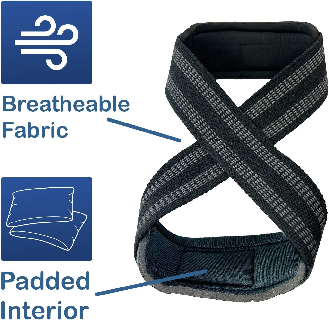 Lifting Shrugs W8TRAIN Padded Figure-8 Wrist Weightlifting Straps for Powerlifting Deadlift
