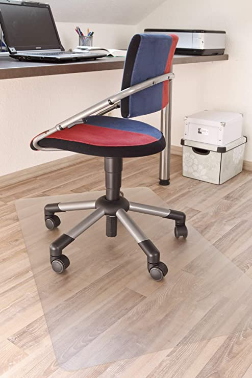 Gut Erhalten Unterlage Für Bürodrehstuhl Kunststoff Klar 75x120 Cm Groß