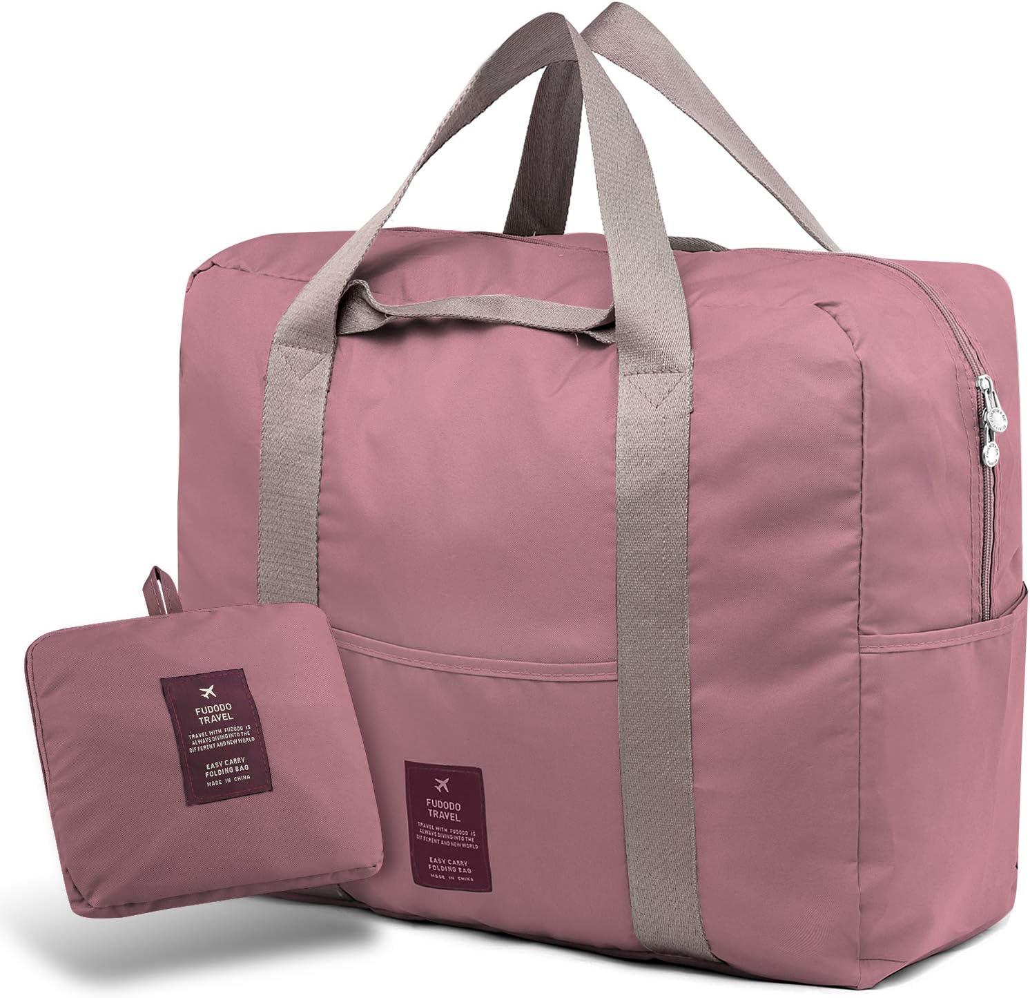 SPAHER Bolsa de Equipaje Bolsas de Viaje Plegable Duffle Bag Ligero Impermeable Organizador de Hombro de Almacenamiento de Transporte de Bolsas para IR de Compras Gimnasio Deportes Camping 40L Rojo