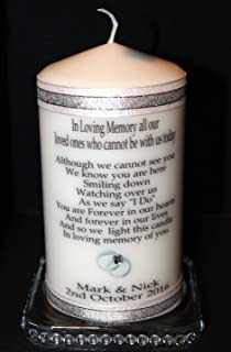 Wedding Absence Candle Personalised By Cellini Candles