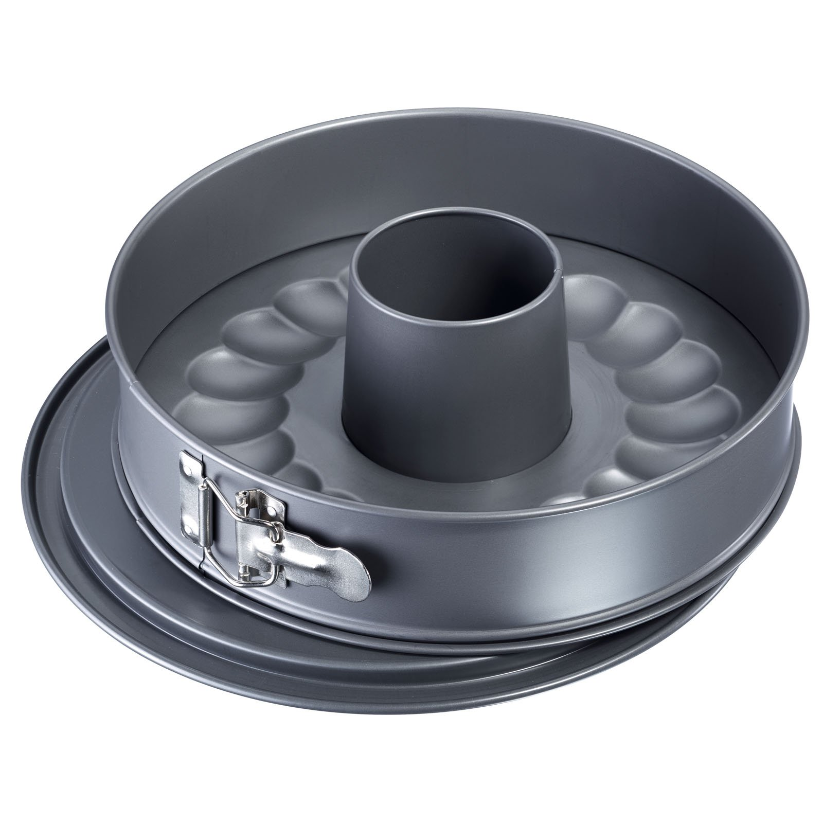 Westmark 33692260 Nonstick Springform Pan Set with Leak Proof 2 Bases, 11'', Gray by Westmark (Image #1)