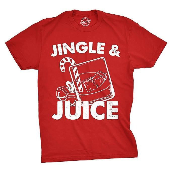 faaa118b Crazy Dog T-Shirts Mens Jingle and Juice Tshirt Funny Santa Claus Christmas  Party Tee