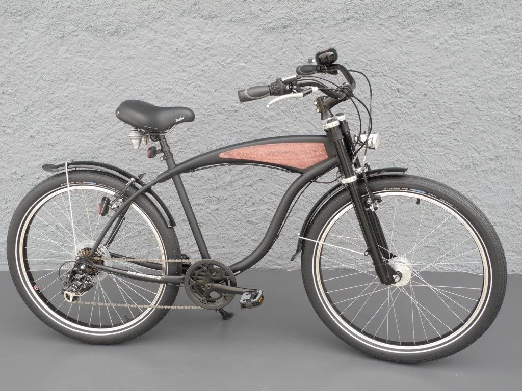 26 Beach Cruiser bicicleta 7 velocidades Shimano dinamo de buje ...