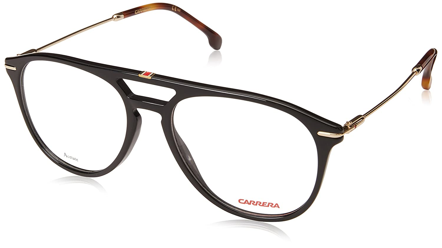 7f2a92dcba39 Carrera Acetate Black Full Rim Aviator Unisex Spectacle Frame (168-V 53):  Amazon.in: Clothing & Accessories
