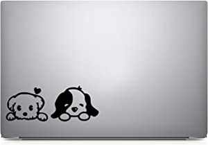 Furivy 1Puppy Dog Laptop Sticker Decal Notebook Car (Black)