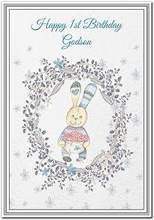 Happy 1st Birthday Godson Card