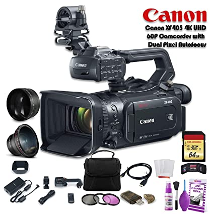 Amazon.com: Canon XF405 - Videocámara 4K UHD 60P con enfoque ...