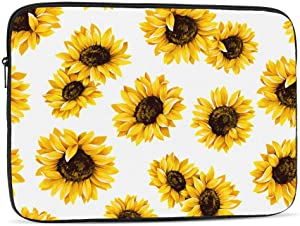13 15 Inch Laptop Sleeve Bag Compatible with MacBook Pro Air Waterproof Shock Resistant Notebook Protective Bag Carrying Case with Small Case - Sunflowers