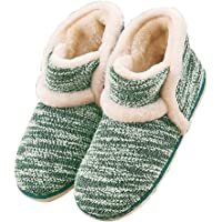 Garatia Winter Vintage Boot Womens Slippers Arctic Solid Indoor Outdoor House Shoes Green Size: 6-7.5