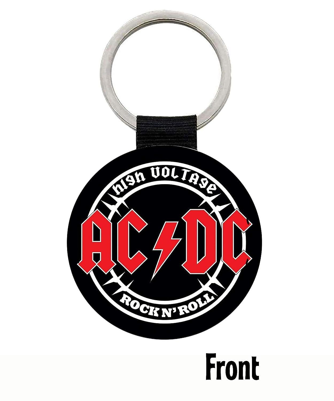 MasTazas AC/DC ACDC High Voltage Angus Young Llavero Keyring ...