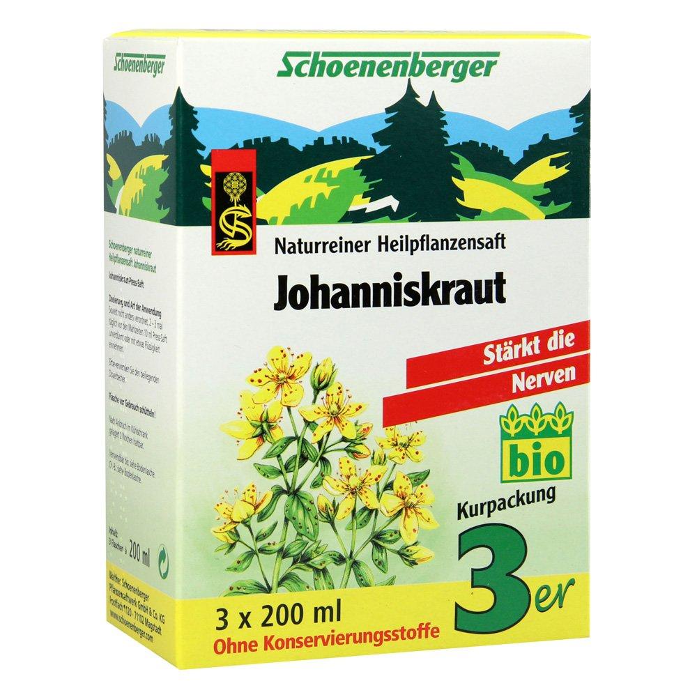 Schoenenberger Johanniskraut naturreiner Heilpflanzensaft, 600 ml Lösung