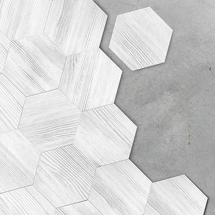. Amazon com  VANCORE White Wood Floor Tile Stickers Wall Sticker