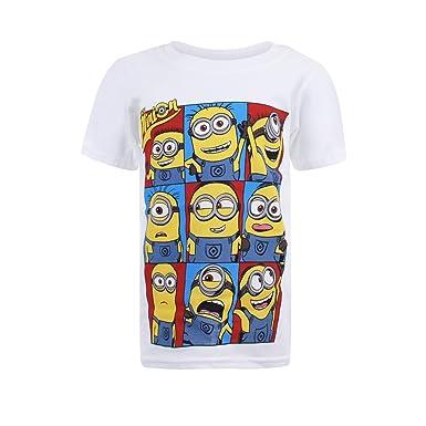 03dc3269ad603 Despicable Me Minions Grid, T-Shirt Garçon  Amazon.fr  Vêtements et ...