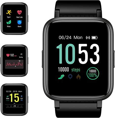 GRM Smart Watch Fitness Tracker with Heart Rate Monitor, Activity ...