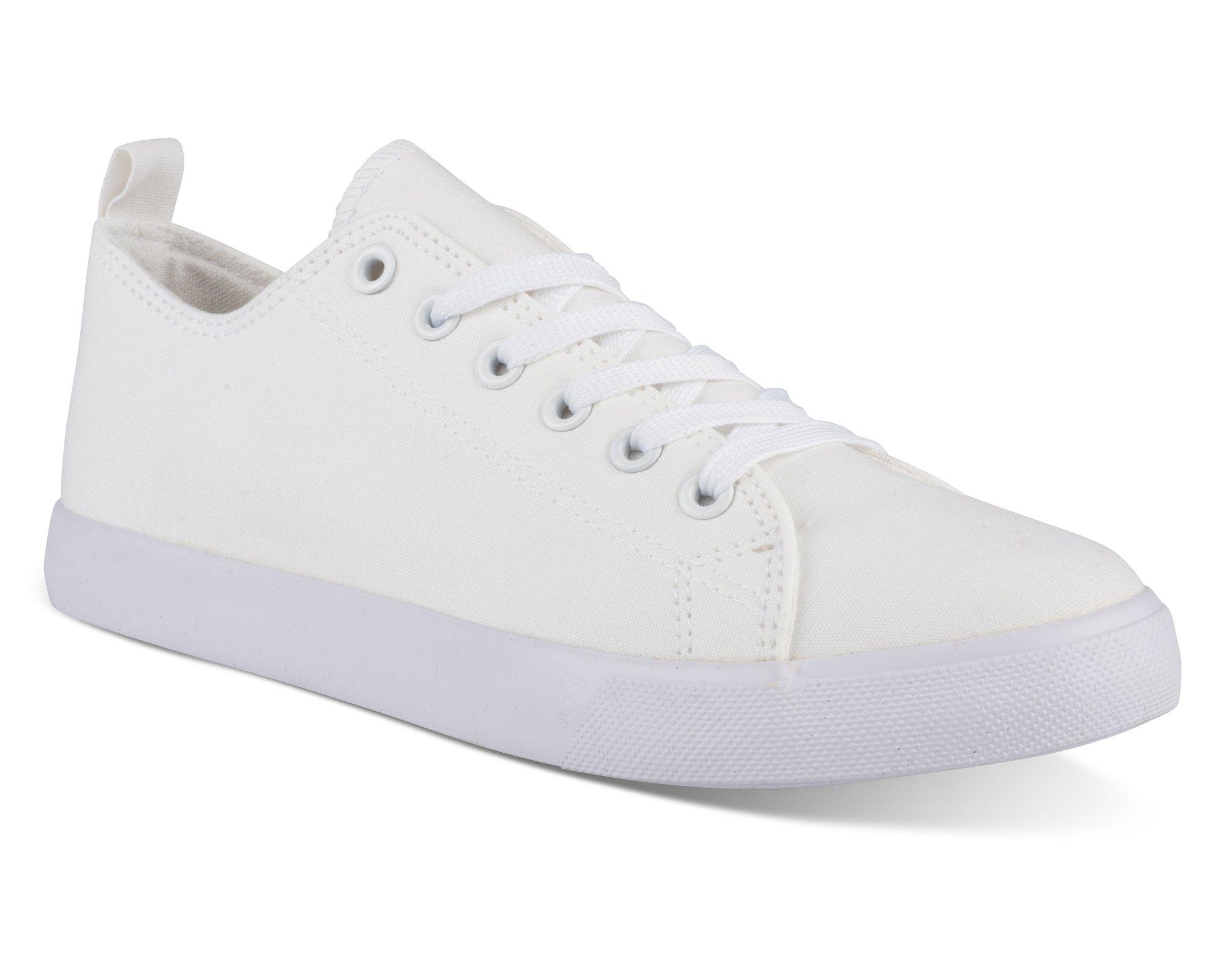 Twisted Women's KIX Canvas Casual Sneakers - KIXLO292WHITE, Size 9