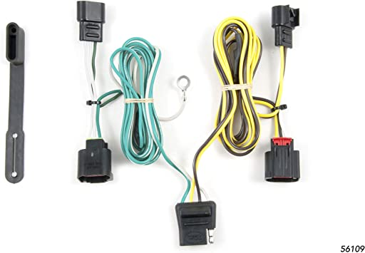 dodge trailer wiring connector amazon com curt 56109 vehicle side custom 4 pin trailer wiring  amazon com curt 56109 vehicle side