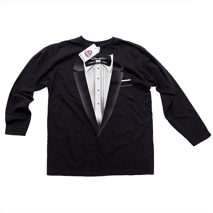 Smoking Neu-schwarz-schwarz s Men'T-Shirt Long Sleeve Top Qualität Fancy  Dress: Amazon.de: Bekleidung