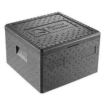 EPP - Caja térmica para pizza (con tapa, 25 L), color negro: Amazon.es: Industria, empresas y ciencia