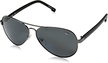 b4e3a3fc59e Lacoste Unisex Aviator Polarized Sunglasses - L163SP