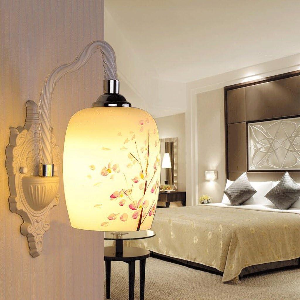FHK,Luces de pared pared de cristal de la lámpara LED de cabecera del dormitorio de la lámpara de la sala de estar comedor restaurante den balcón pasillo hueco de la escalera de