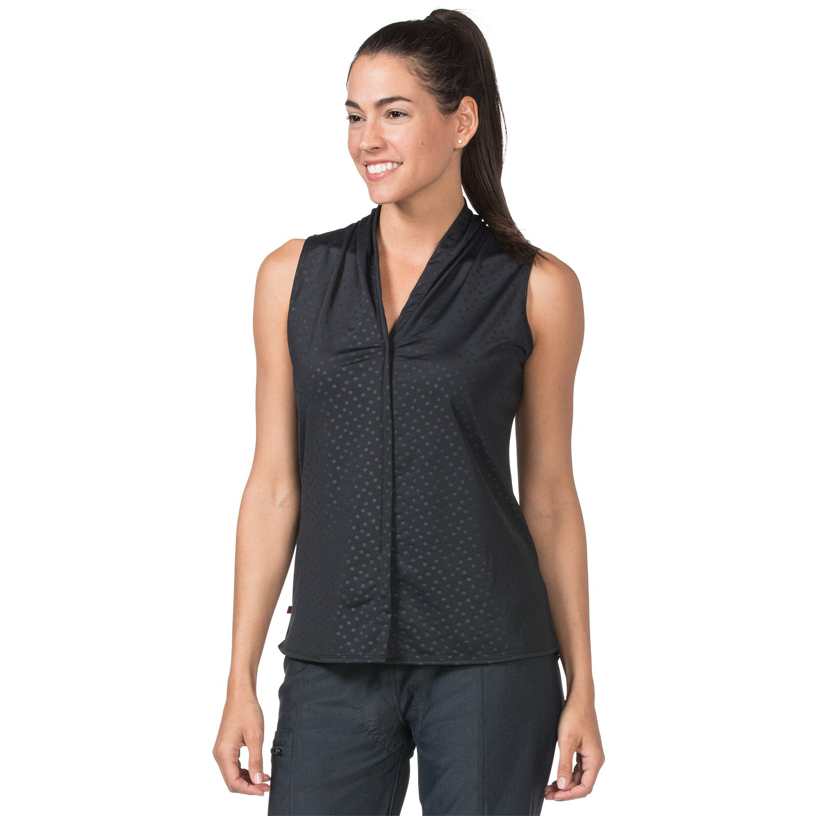 Terry Women's Transit Top, The Prefect Everyday Sleeveless Athletic Blouse (Small, Dots) by Terry