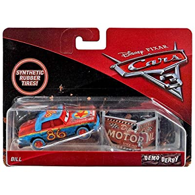 Cars Bill Demo Derby Disney 3 Diecast 1:55 Scale with Synthetic Rubber Tires: Toys & Games