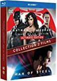 BATMAN VS SUPERMAN/MAN OF STEEL - Coffret 2 Films - BLURAY - DC COMICS