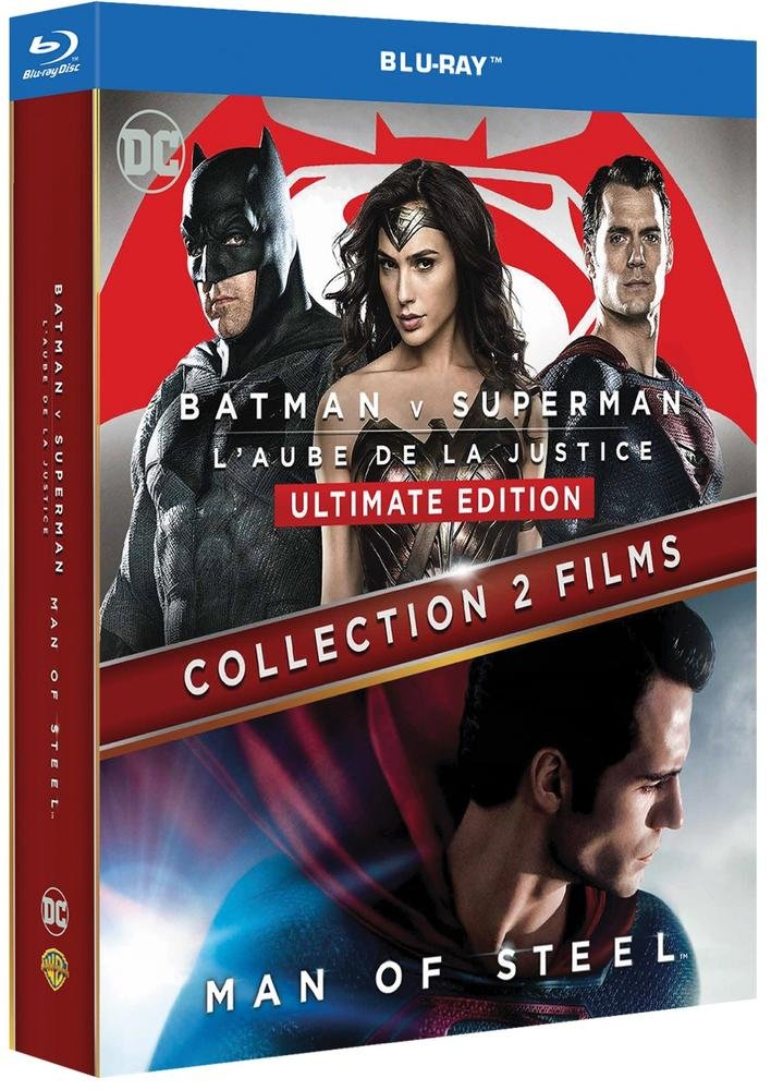 Collection 2 films : Batman v Superman : L'aube de la justice + Man of Steel [Francia] [Blu-ray]