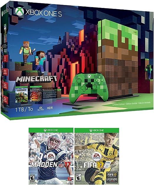 XBOX Minecraft Sports Bundle (3 artículos): Xbox Uno S 1 TB ...