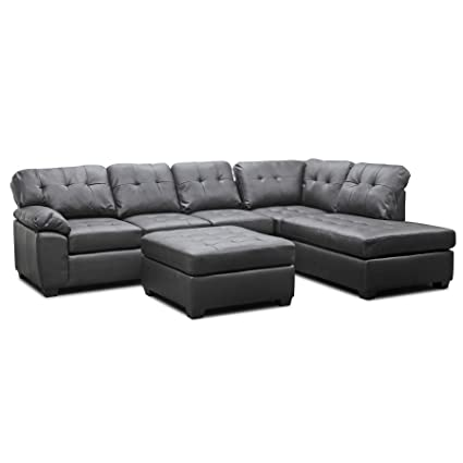 Amazon.com: Baxton Studio Mario Modern Sectional Sofa with ...