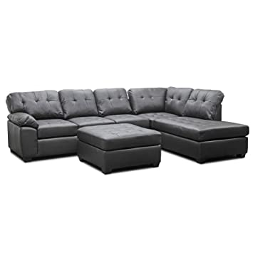 modern leather sectional sofa with chaise beige furniture studio ottoman brown covers