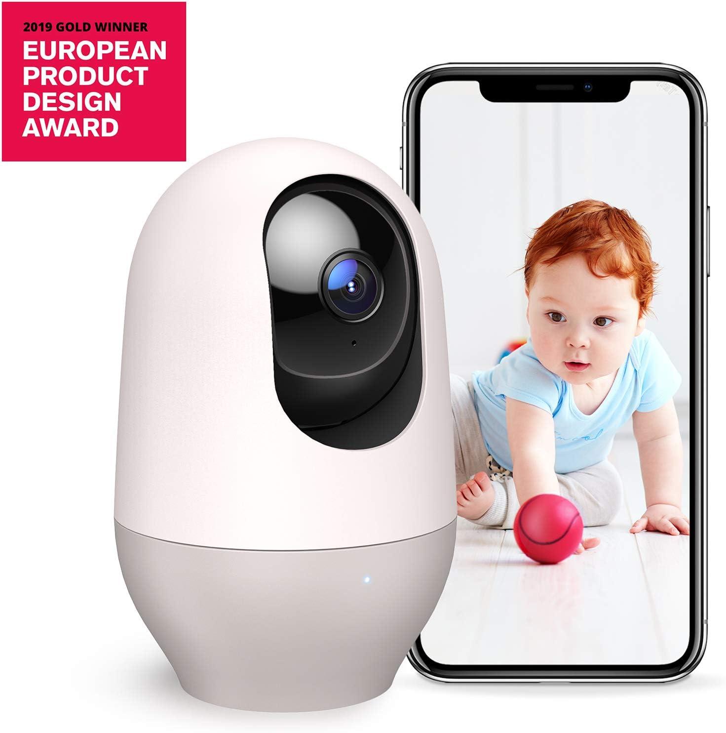 Nooie Cámara WiFi 1080P, Cámara IP Vigilancia Interior Inalámbrico, con Micrófono y Altavoz, Visión Nocturna, Detección de Movimiento, Seguridad para Bebé y Mascotas, Compatible con iOS/Android,Alexa