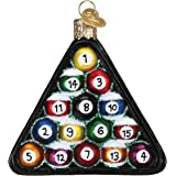Old World Christmas Sports Collection Glass Blown Ornaments for Christmas Tree Billiard Balls