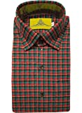 STC Men's Grey Woolen Checkered Cottswool Winter Wear Full Sleeves Regular Fit Formal Shirt 0125