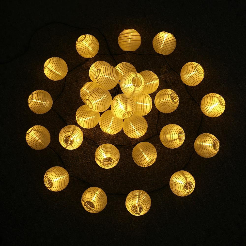 ANEAR Solar Lichterkette Lampions Außen 20er LED 3+1.5 Meter Wasserdicht Beleuchtung für Garten, Balkon, Party