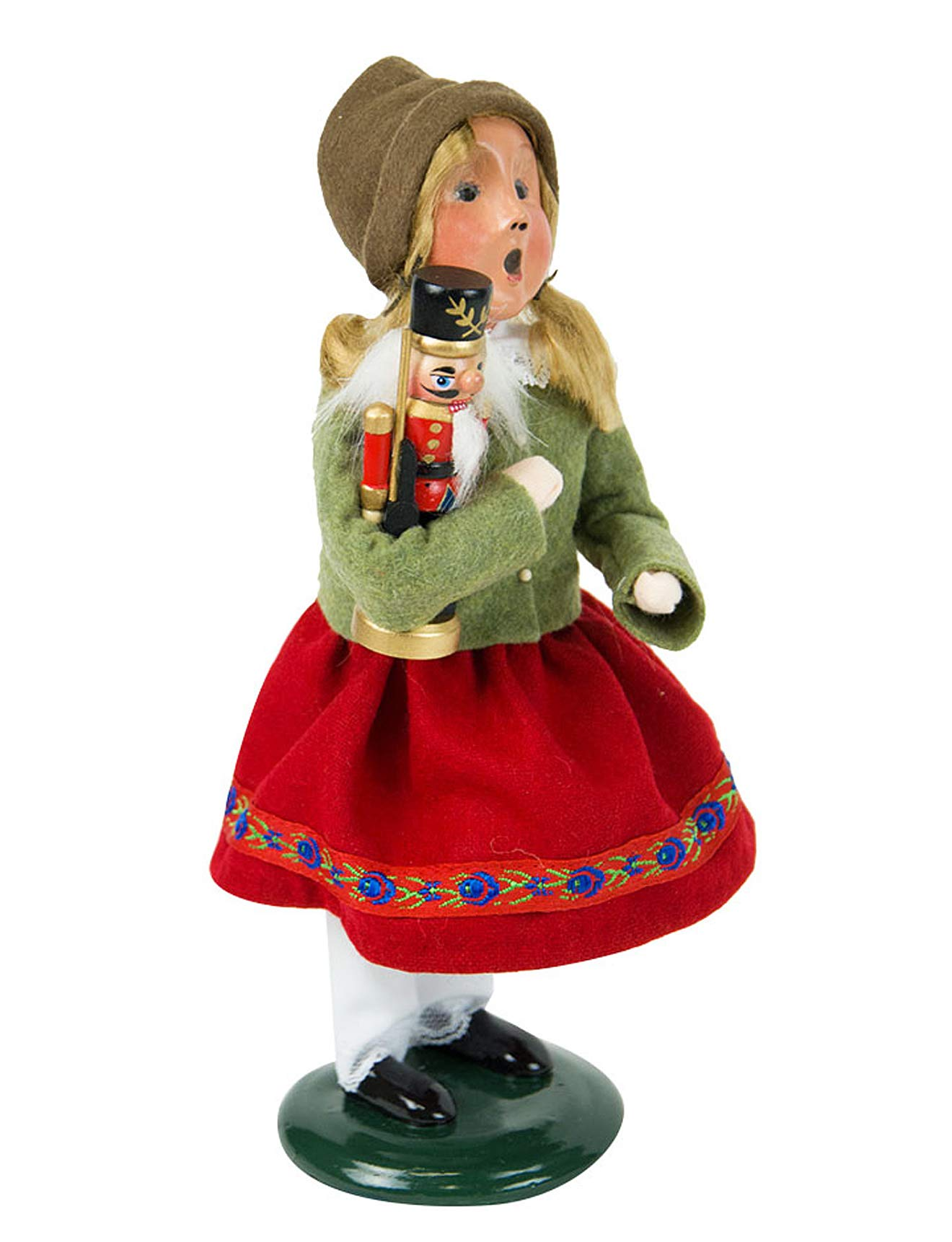 Holiday Figurines - Byers Choice - Girl with Nutcracker - New for Christmas 2018