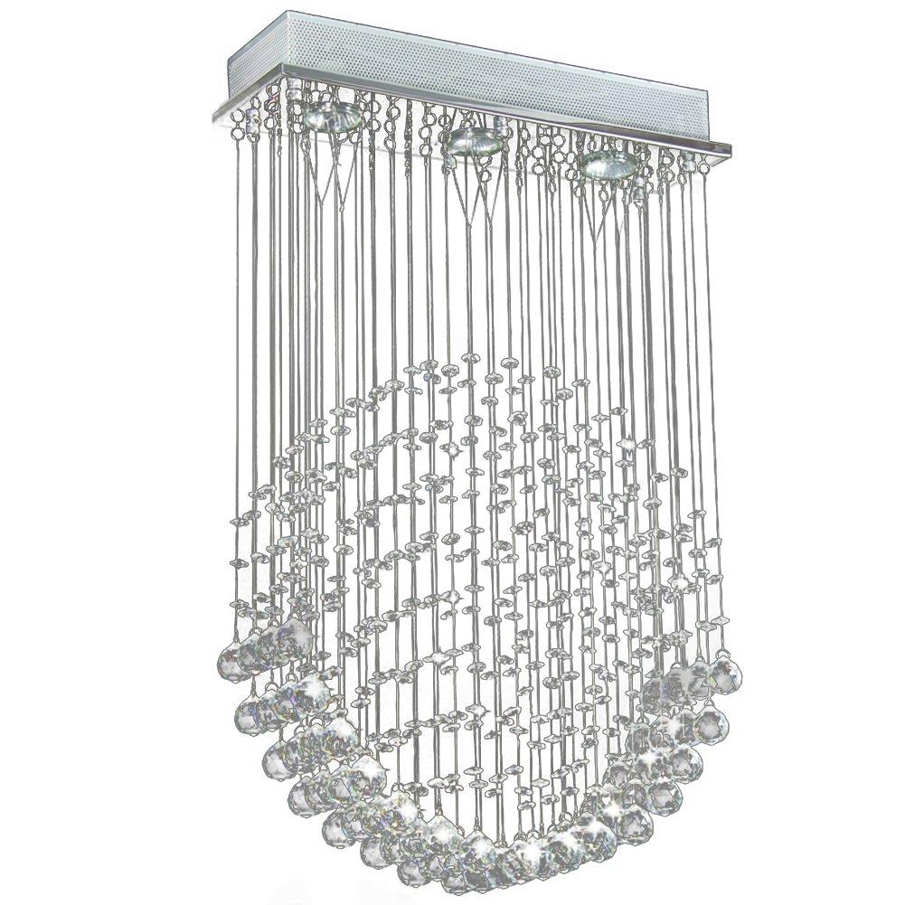 Faszinierend Kronleuchter Kristall Modern Beste Wahl Leuchter, Acelectronic L72cm(17.7inch) Droplet Cascading Hängeleuchte Pendelleuchte