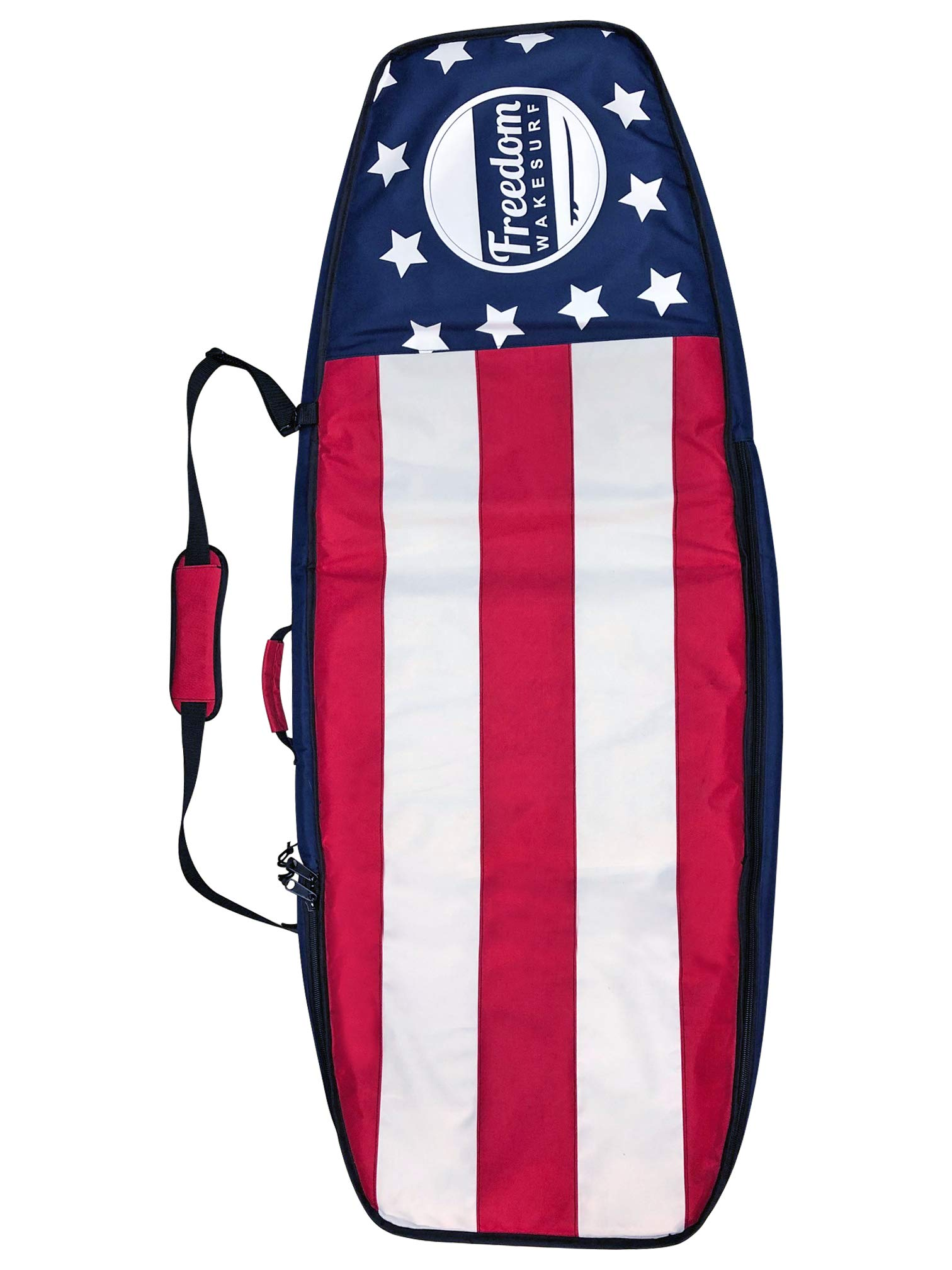 freedom wakesurf Double Surf Board Bag for 2 Surfboards Protection Surfboard Cover | Travel Surf Bag for up to 5ft Board ● with Adjustable Shoulder Strap by freedom wakesurf