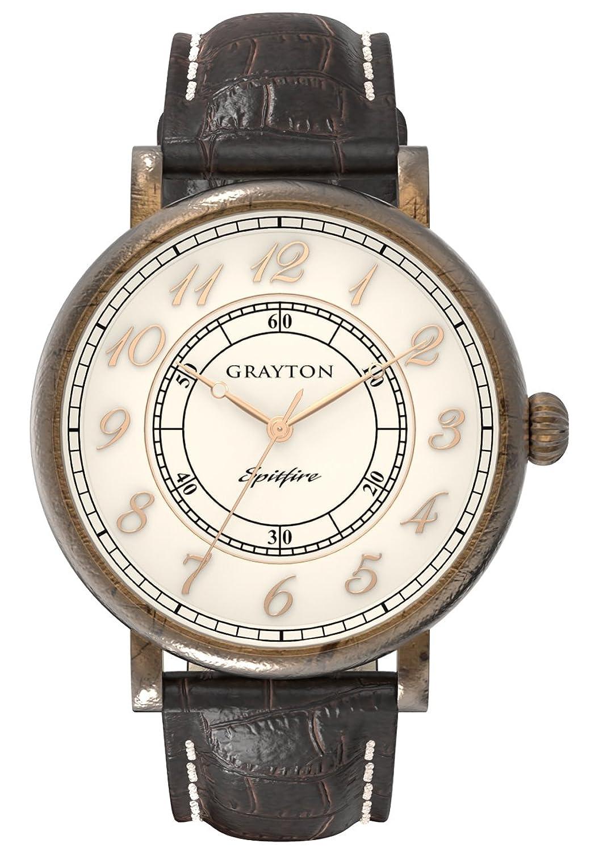 Grayton Herren-Armbanduhr Spitfire Analog Quarz Leder GR-0014-001.6