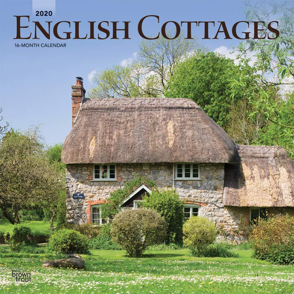 English Cottages 2020 12 X 12 Inch Monthly Square Wall Calendar