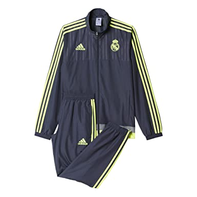 adidas Real Madrid CF PR Suit CH 2015/2016 - Chándal, Color Gris ...