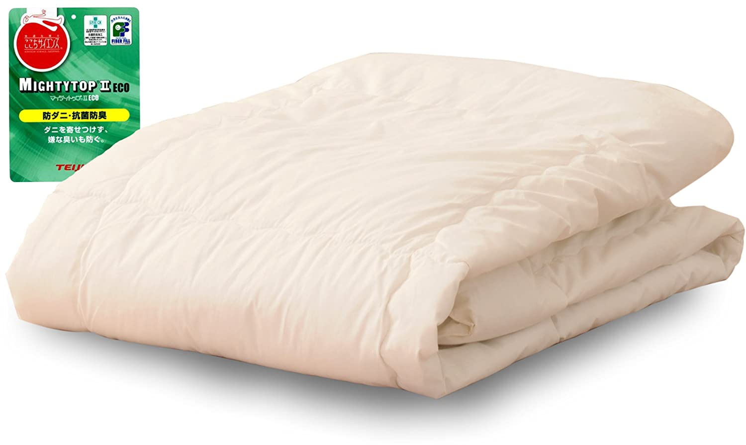 EMOOR Anti-ticked anti-bacterial and deodorized Comforter with Chemical-free Anti-mite fabric CLASSE-ZERO SUPER-LIGHT, Polyester (Filling & Fabric), Twin Size, Made in Japan