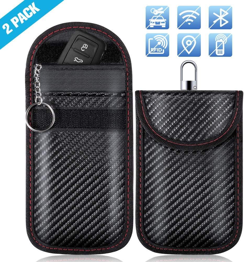 Keyless Go Schutz Zoto Autoschlüssel Schutz Hülle 2 Pack Rfid Wifi Nfc Blocker Abschirmung Auto Faraday Schlüsseltasche Schlüsseletui Car Key Safe Auto