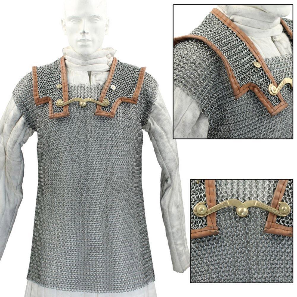 Medieval Warrior lorica Hamata Roman Chainmail Armor (Large)
