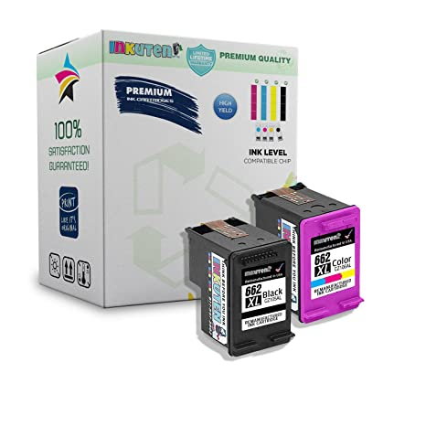 INKUTEN 2 Cartucho HP 662 XL (1 Negro, 1 Color) Compatible con HP Deskjet 1015 1515 2515 2545 2645 3515 3545 4645