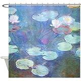 CafePress - Waterlilies by Monet Shower Curtain - Decorative Fabric Shower Curtain