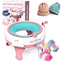 Smart Weaving Loom Knitting Round Loom Knitting Board Rotating Double Knit Loom Machine SEAAN Knitting Machine 40 Needles Knitting Loom Machines Weaving Loom Kit for Adults and Kids